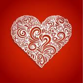 Floral Heart Background — ストックベクタ