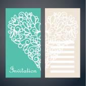 Invitation card with heart — Stock Vector