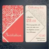 Invitation cards paper decor — Stock Vector