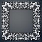 Swirly paper square decor — Stock Vector