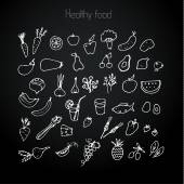 Healthy food background — Stock Vector