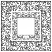 White square decor on white — Stock Vector