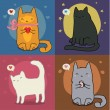 Set of cute cats  — Stock Vector #68243643