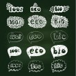 Ecology doodles icon set. — Stock Vector #68243649