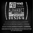 Hand drawn four fonts on blackboard — Stock Vector #68243803
