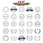 Vintage round elements 25 — Stock Vector