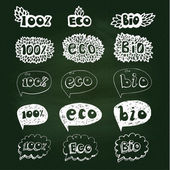 Ecology doodles icon set. — Stock Vector