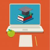 Online education concept — Stock Vector