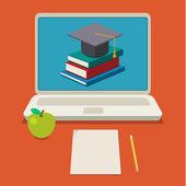 Concept de l'éducation en ligne — Vecteur