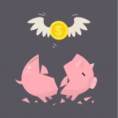 Piggy Bank concept — Stock Vector