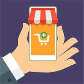 E-commerce flat design concept — Stock Vector