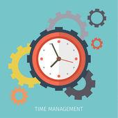 Koncept efektivní hospodaření s časem. — Stock vektor