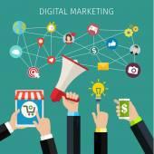 Conceito de marketing digital. — Vetor de Stock