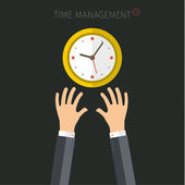 Concept of time management. Flat vector illustration — Stockvektor