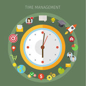 Concept of effective time management.  — Vettoriale Stock