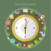 Concept of effective time management.  — Stock Vector