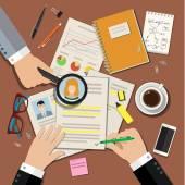 Job interview concept — Stock Vector