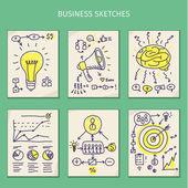Concepts of idea. Sketches — Stockvector