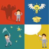 Business concept of idea — Stock Vector