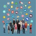 Social network concept.  — Stock Vector #75666905