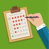 Customer feedback concept. — Stock Vector