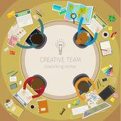 Concept of creative teamwork — Stock Vector