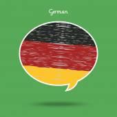 旅游或学习德语的概念 — 图库矢量图片