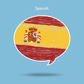 Concept of travel or studying Spanish. — Stock Vector