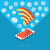Concept of Wifi zone — Stock Vector