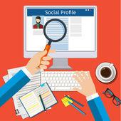 Search Social Profile — Stock Vector