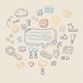 Concept of social network activity — Stock Vector