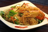 Casseroled prawns shrimps with glass noodles — Stockfoto