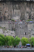 Longmen Grottoes caves with Buddha's figures in Luoyang, China. — Stock Photo
