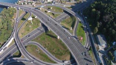 Two-level   road junction, Kiev — Stock Video