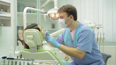 Dentist and patient — Stock Video