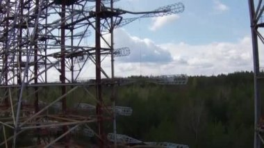 Chernobyl2, Soviet radar system — Stock Video
