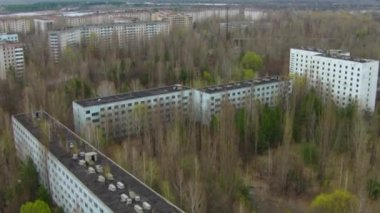 Pripyat, ghost town near Chernobyl — Stock Video