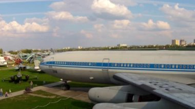 Old aircrafts at aviation museum in Kiev — Wideo stockowe