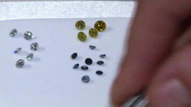 Laboratory-created, lab-grown, or man-made diamonds — Stock Video