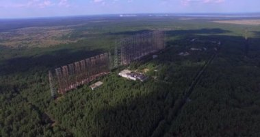 Duga, the Steel Giant Near Chernobyl (Aerial, 4K) — Stock Video