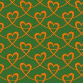 Elegant seamless pattern with hearts — Stock Vector