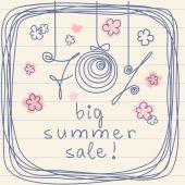 Background -70 percent Big Summer Sale — Stock Vector