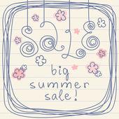 Venta de verano grande! — Vector de stock