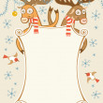 Christmas frame with comic deer — Stock Vector #59524709