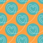 Polka dot hearts seamless pattern — Stock Vector #59527333