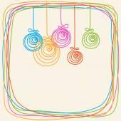 Doodles christmas decoration, stars, frame — Wektor stockowy