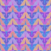 Seamless pattern with color butterflies — Stock Vector