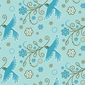 鳥とのシームレスなパターン — ストックベクタ