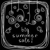 Grande venda de verão! — Vetor de Stock