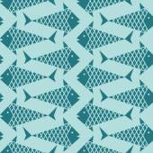 Seamless pattern with fish — Stock Vector